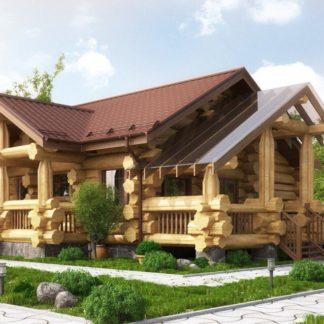 Дом из рубленного бревна №А1 - 203 м2 (14 х 16)